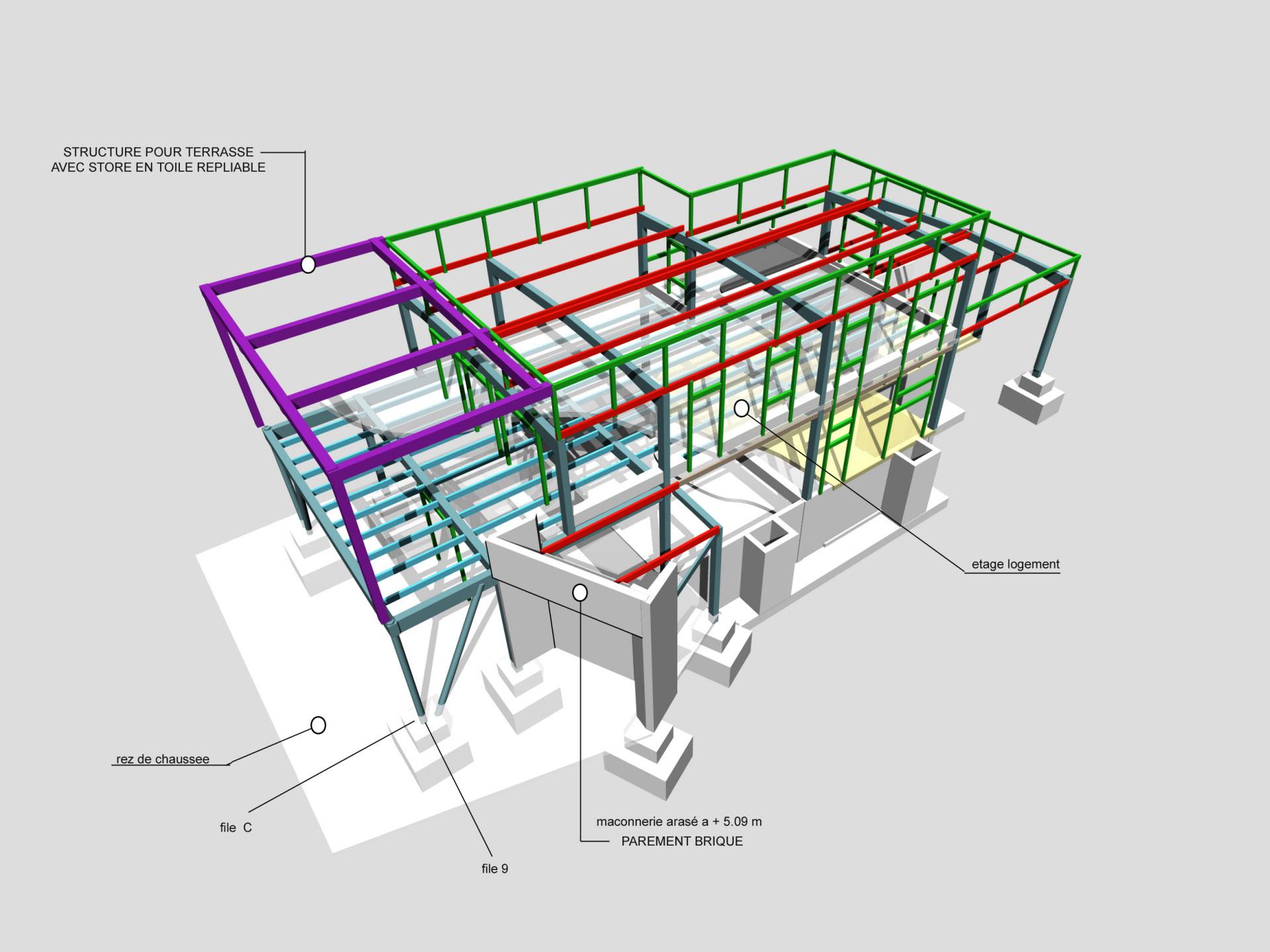 Structure La Boulangerie Honoré - Bruno Provot